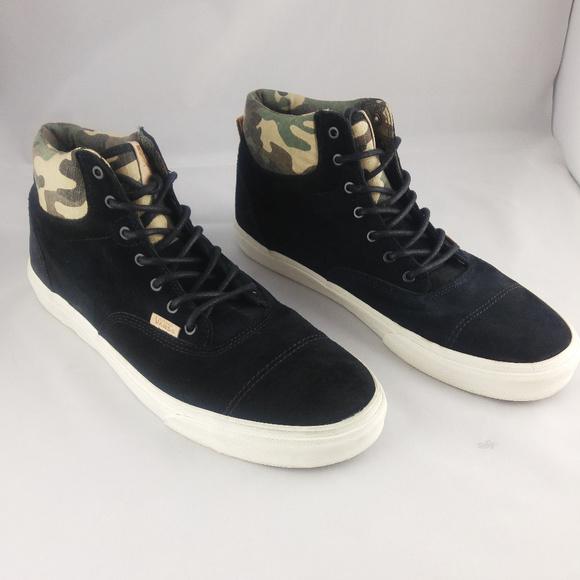 cf90d10e8d Vans Era Hi Black   Camo Suede Shoes. M 5c6a2ea3c89e1d4adae53d56